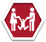 Stop sign social services icon
