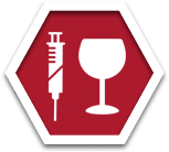 Stop sign drug and alcohol testing icon