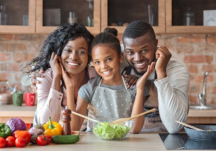 Food Sensitivity Happy Healthy Black Family-min